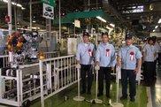 磐田本社工場で行われた自動車用エンジン累計300万台達成のセレモニー