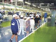 ヤマハ発動機二輪車工場見学の様子