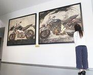 「MT-07」「MT-09」の日本画を静岡県磐田市にあるヤマハ発動機の企業ミュージアム『コミュニケーションプラザ』で展示しています。