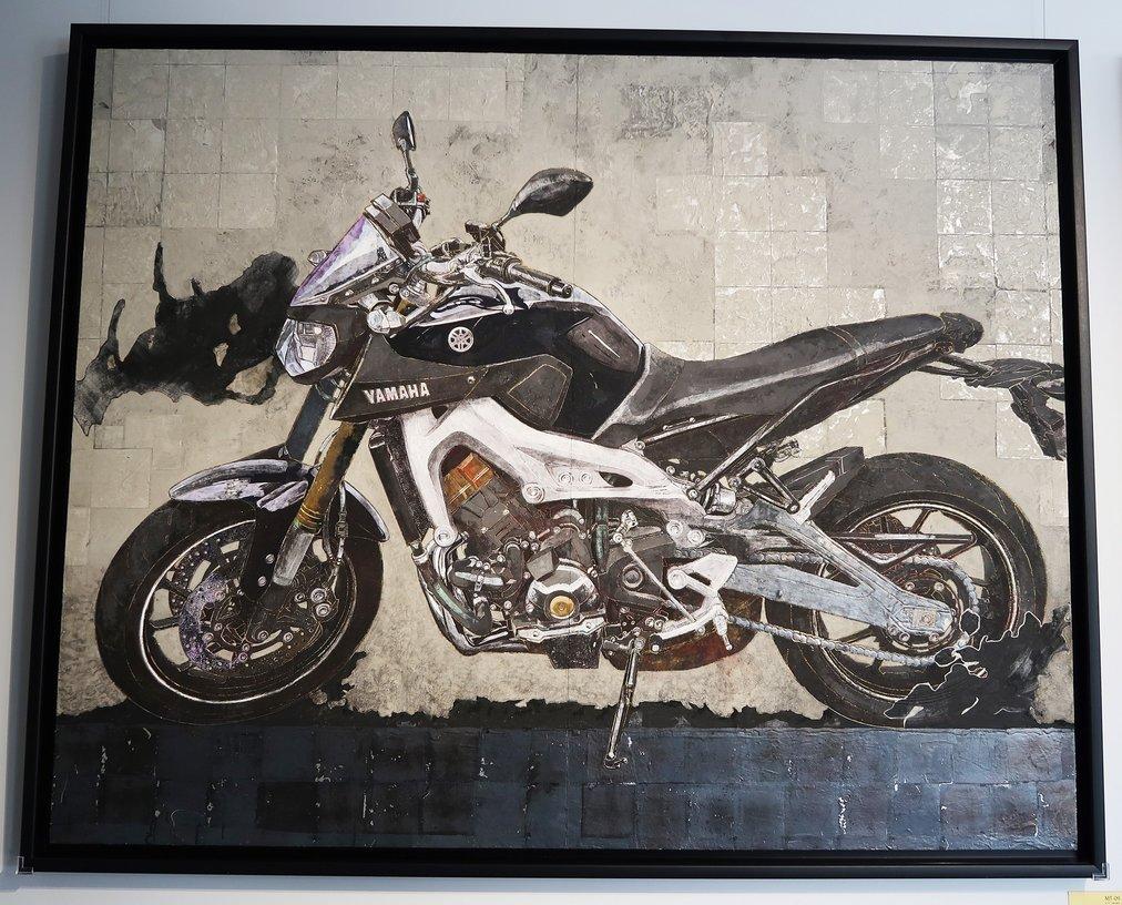 「MT-09」の日本画(日展入選作品)