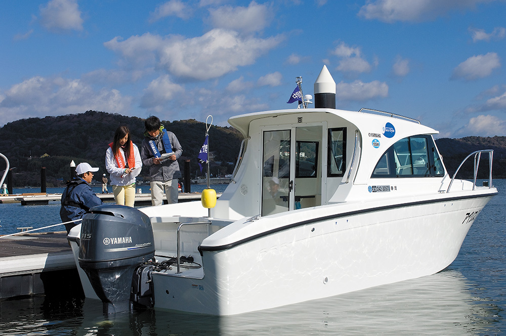 ボート免許教室の実技風景